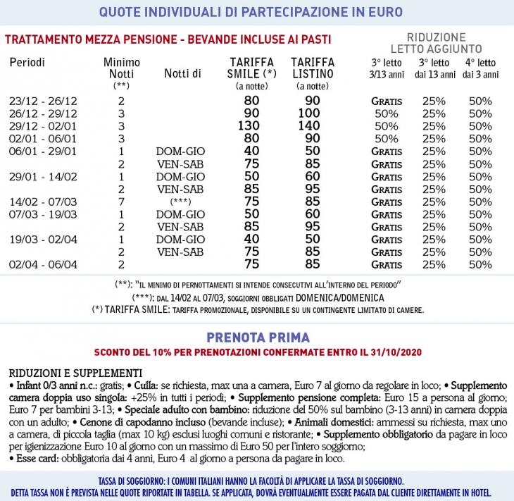Tariffe Club Esse Pila 2000