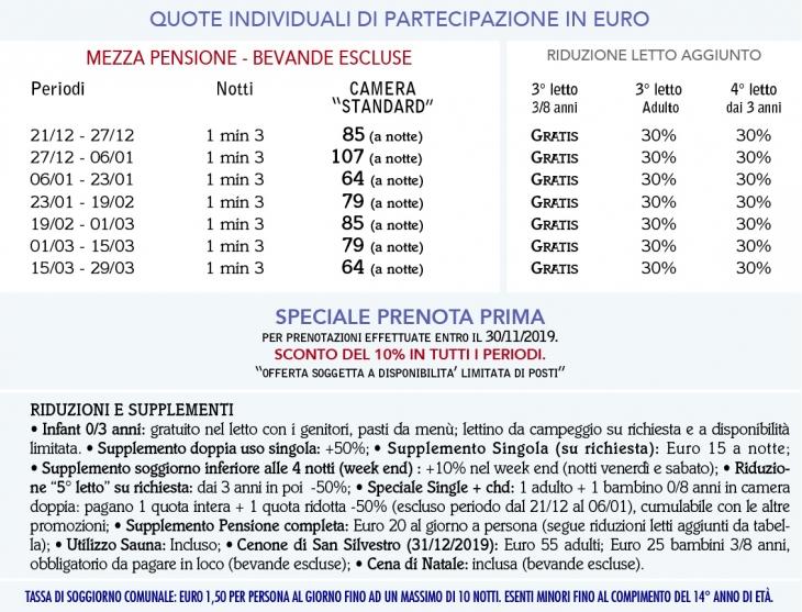 Tariffe G.H. Fratazza