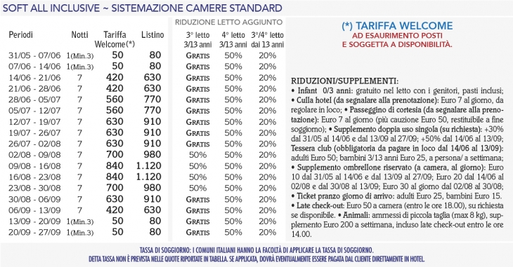 Tariffe Torre Guaceto Resort
