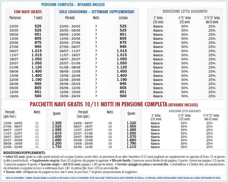 Tariffe Marina Rey Beach Resort