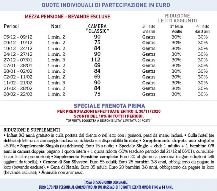 Tariffe Hotel Piaz